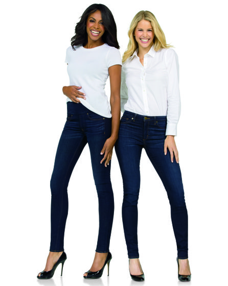 SPANX Jeans (on model)