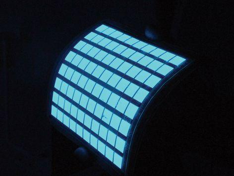 Flexible blue OLED