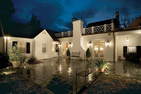 Outdoor lighting adds safety and curb appeal.
