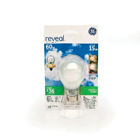 GE Reveal® 15W/60W (covered)50