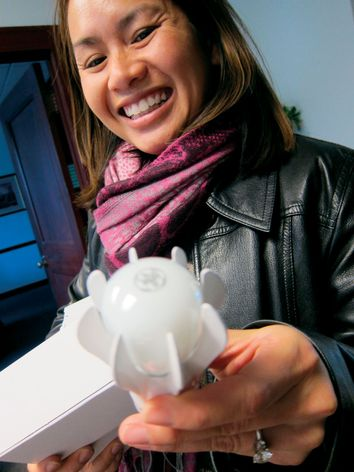 9-watt GE Energy Smart® LED light bulb