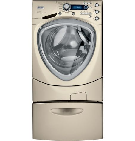 GE Profile™ frontload washer with steam and Overnight Ready(Model PFWS4605LMG)