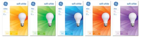 GE Lighting's new re-designed packaging