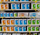 GE Lighting's color-coded packaging system