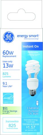energy smart® CFL: Comfortable, inviting light™