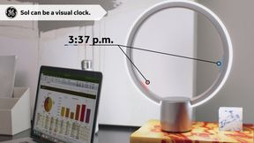 GE Sol Lamp Clock