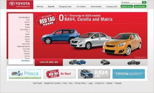 New toyota.ca website