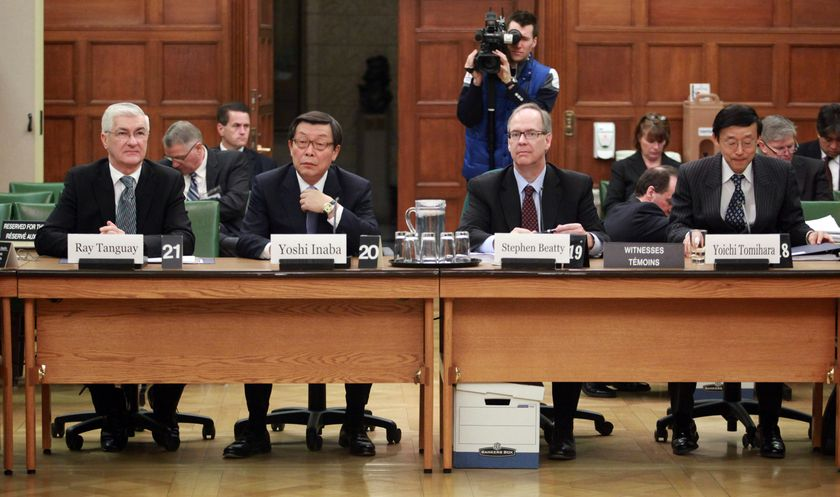 Toyota Executives appear before House of Commons Standing Commitee 3