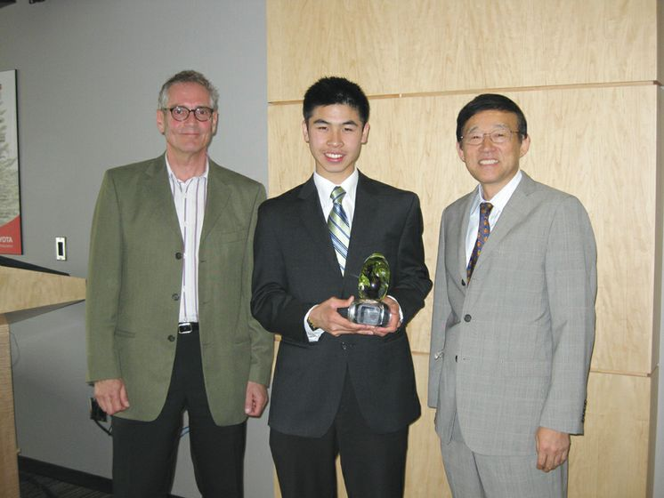 2010 National Toyota Earth Day Scholarship Winner Andrew Wong