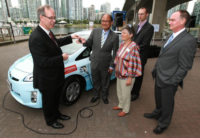 1 Prius Plug-in Hybrid Delivery to B.C. partners 5