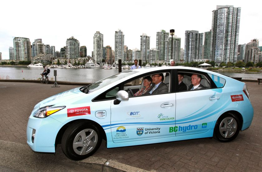 1 Prius Plug-in Hybrid Delivery to B.C. partners 2