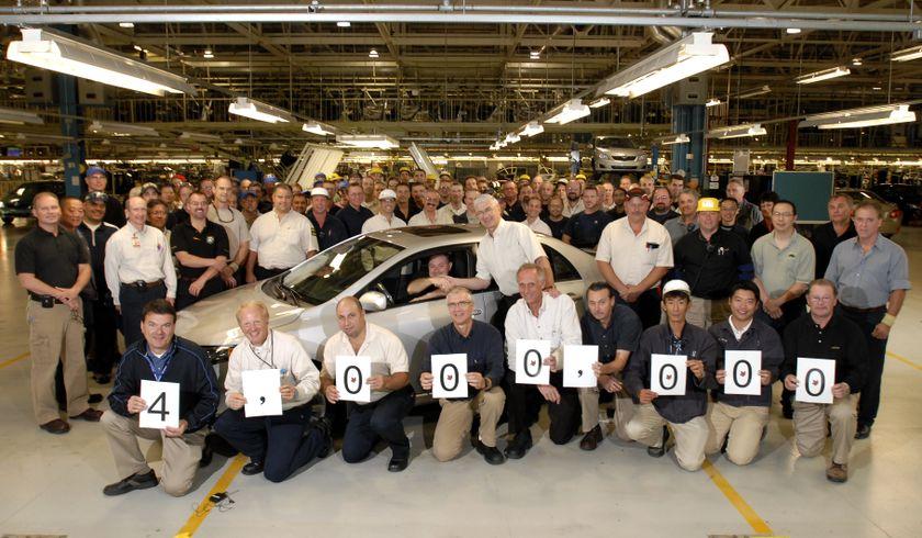 Toyota souligne la construction de son quatre millionième véhicule au Canada