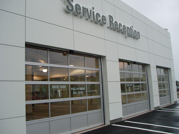 Drive-thru service reception