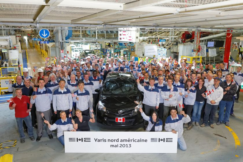 Toyota S French Factory Starts Yaris Production For North