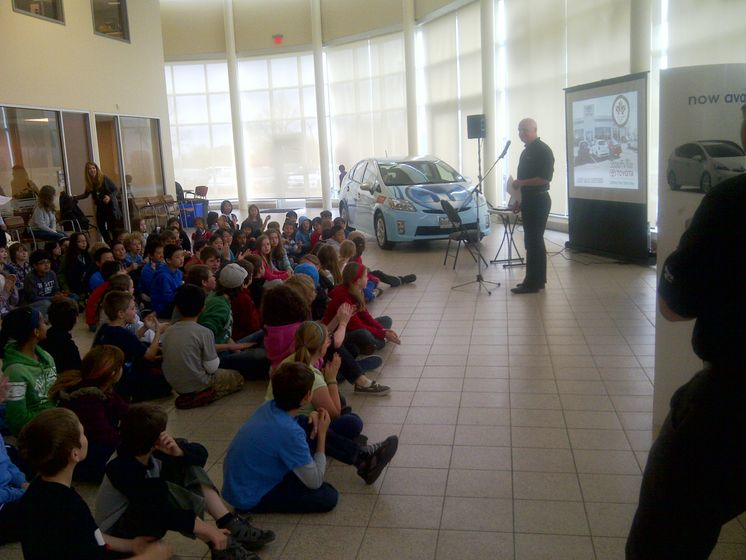 Stouffville LEED - Kevin Baxter addresses students