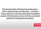 Toyota Brake Override Demonstration EN