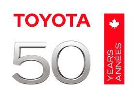 Toyota 50 Anniversary Logo Bilingual No Bullhorns