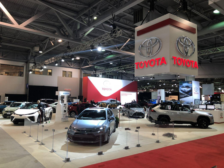 Le kiosque Toyota du Salon de l'auto international de Québec