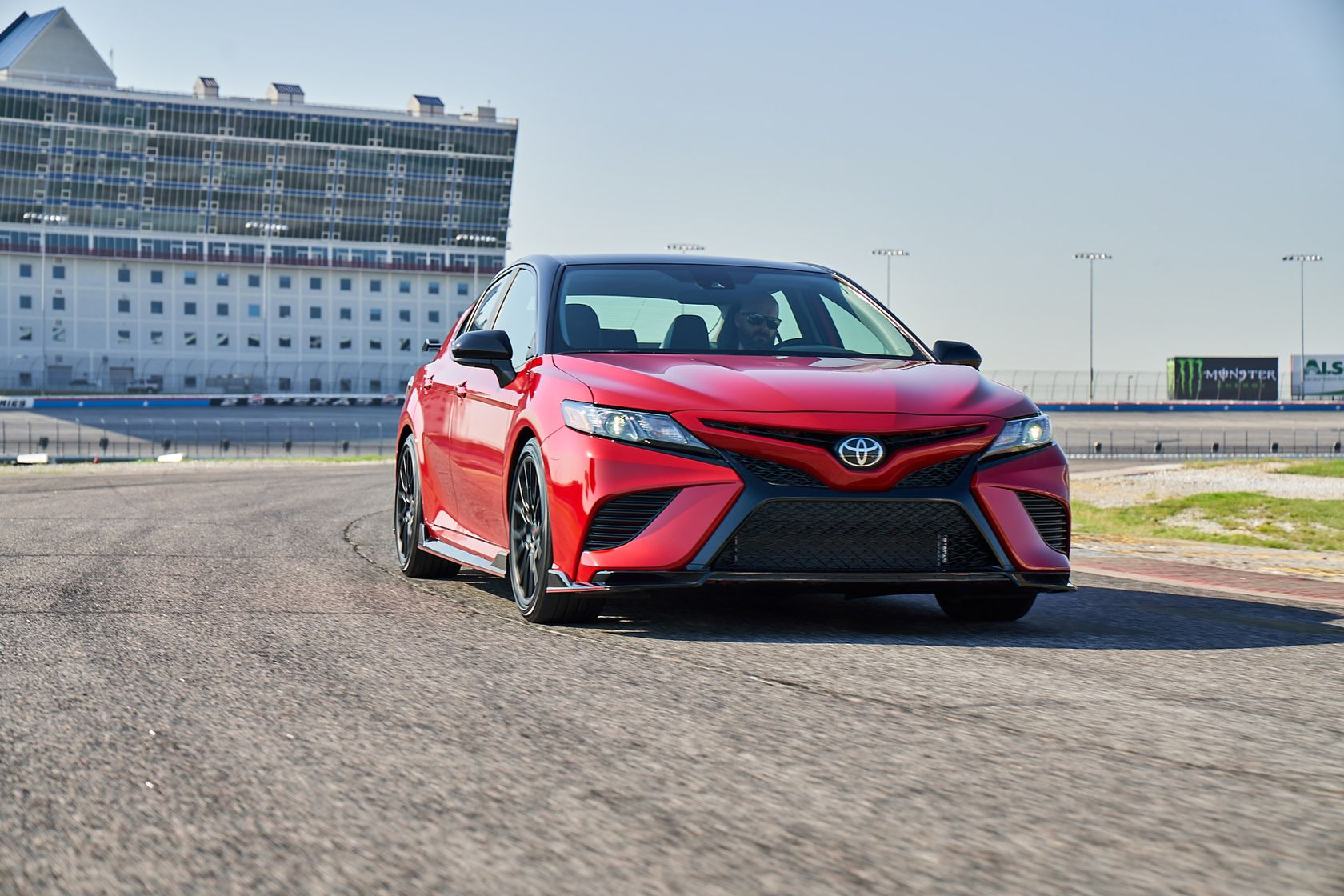 2020 Toyota Camry TRD Supersonic Red Midnight Roof 001