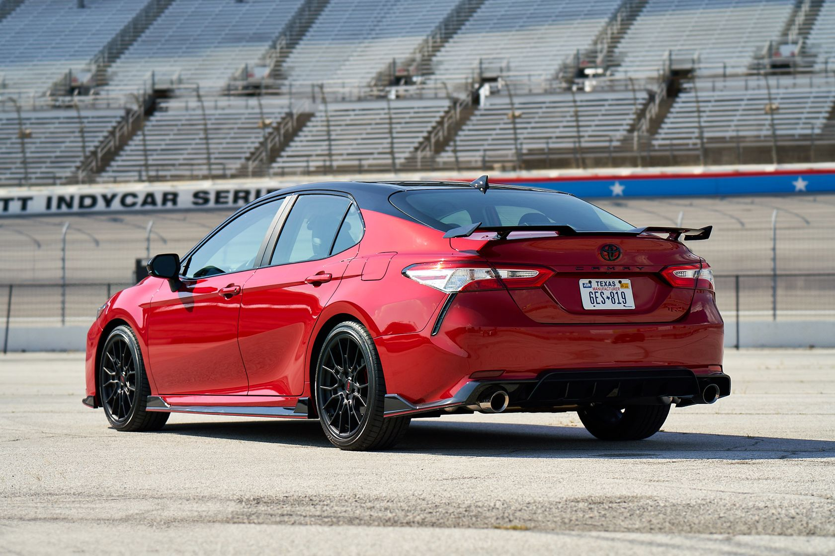 2020 Toyota Camry TRD Supersonic Red Midnight Roof  004