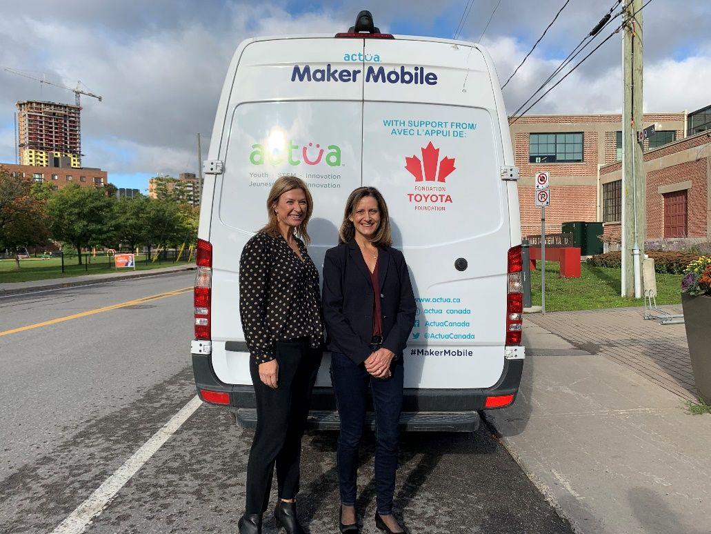 La Fondation Toyota Canada annonce un nouveau financement pour Actua et sa tournée d'automne Maker Mobile