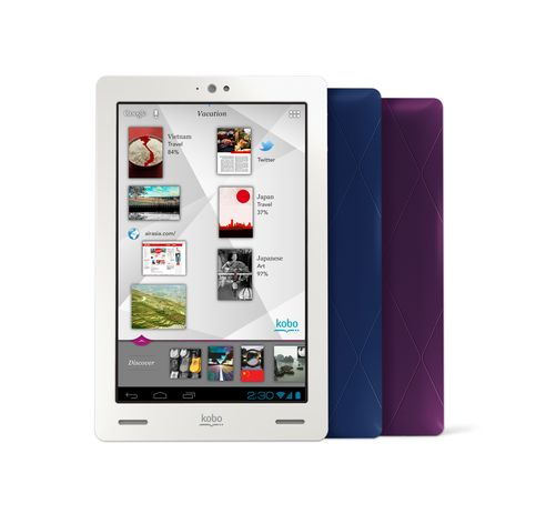 Kobo Arc - front and back Discovery Screen - Hi Res