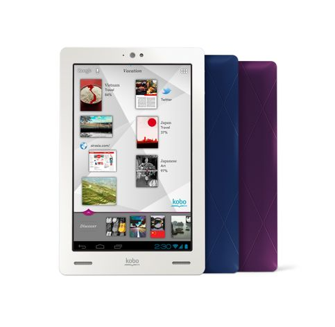 Kobo Arc - front and back Discovery Screen - Lo Res