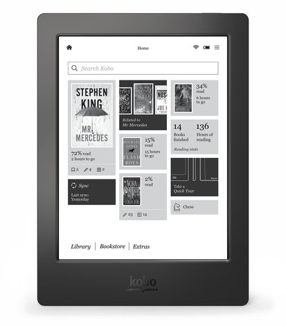 Kobo Aura H2O Home Screen