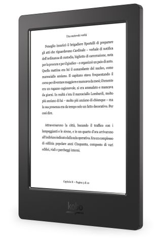 Kobo Aura H2O – Left Angle (Reading Screen) - Italy