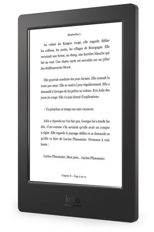 Kobo Aura H2O – Left Angle (Reading Screen) - France