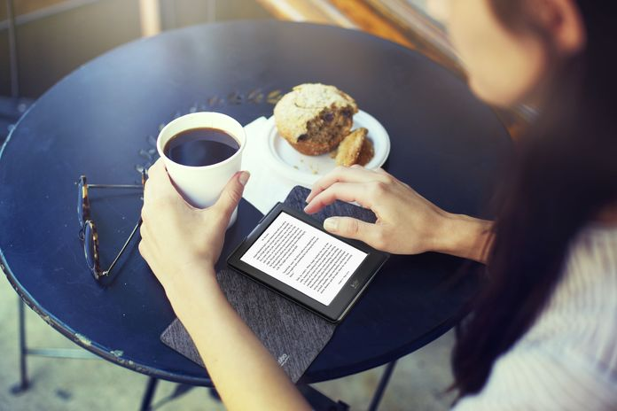 Lifestyle Image - Coffee and eReading