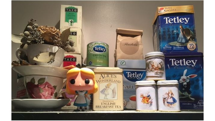 Alice In Wonderland Tea Stash