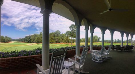 Pinehurst Country Club veranda