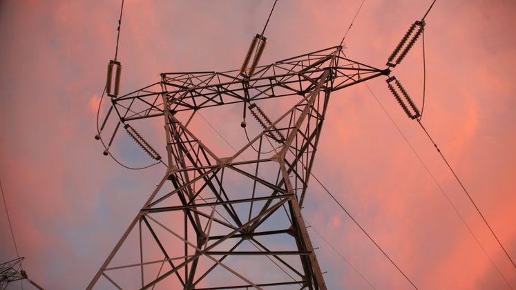 Transmission Tower at Dusk