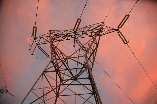 Transmission Tower at Dusk