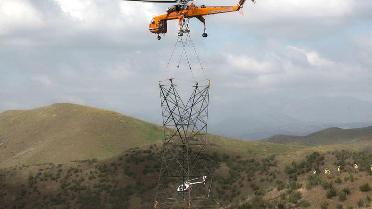 Sky Crane Works on SCE Lines
