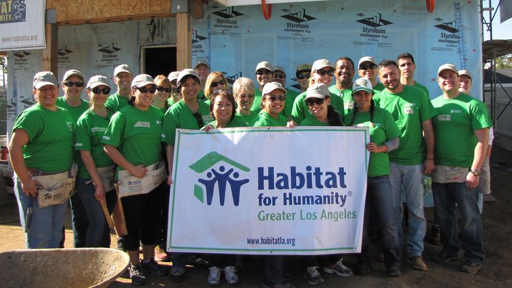 SCE Volunteers at Habitat for Humanity Build