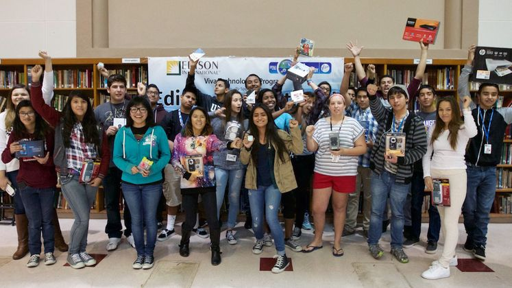 Whittier High School Students with STEM Prizes