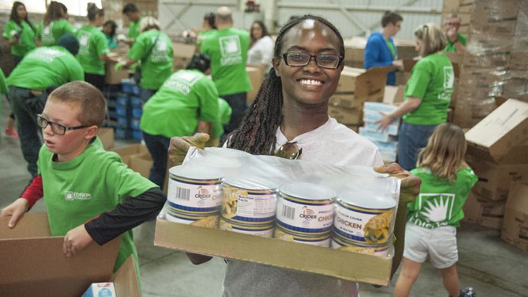 Orange County Food Bank Volunteer Event