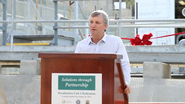 Catalina desalination plant ribbon cutting