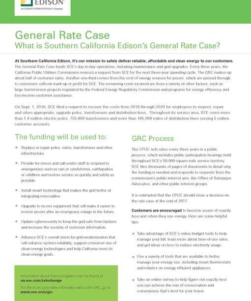 General Rate Case