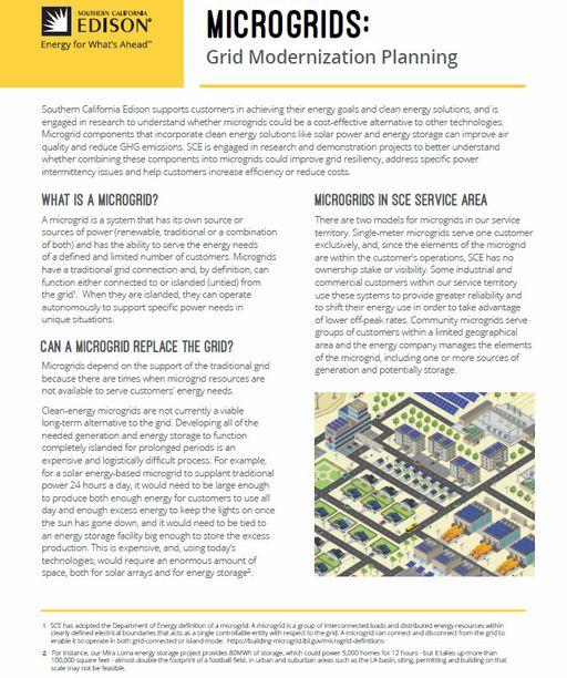 Microgrids: Grid Modernization Planning