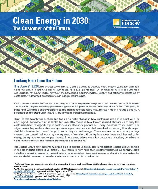 Clean Energy in 2030