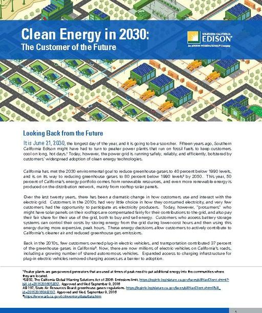 Clean Energy in 2030