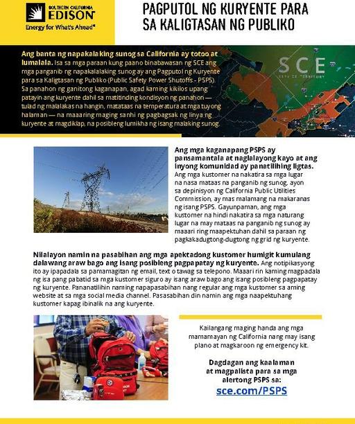 PSPS Fact Sheet (Tagalog)