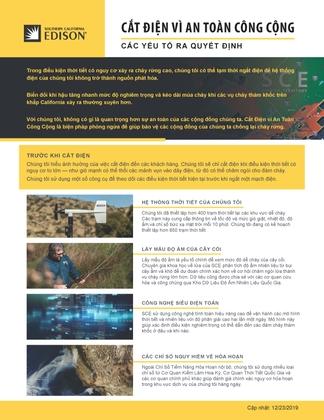PSPS Decision-Making Factors Fact Sheet (Vietnamese)