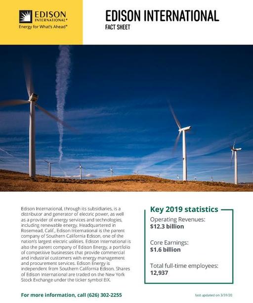 Edison International Fact Sheet