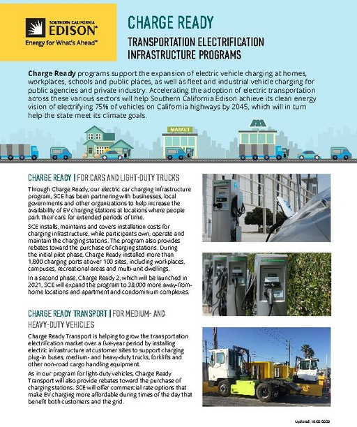 Charge Ready Transportation Electrification Infrastructure Programs