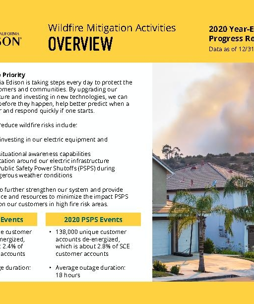 Wildfire Mitigation Progress by County Report 2020 Year-End