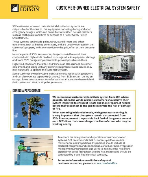 Customer-Owned Electrical System Safety